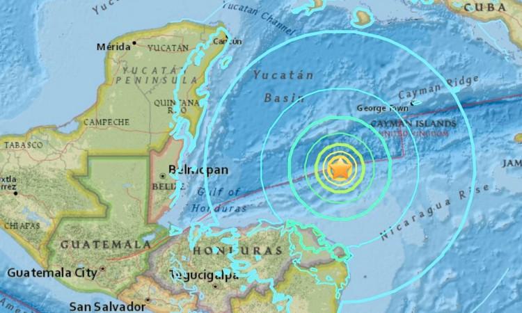 Sismo de 7.5 grados sacude costas de Honduras
