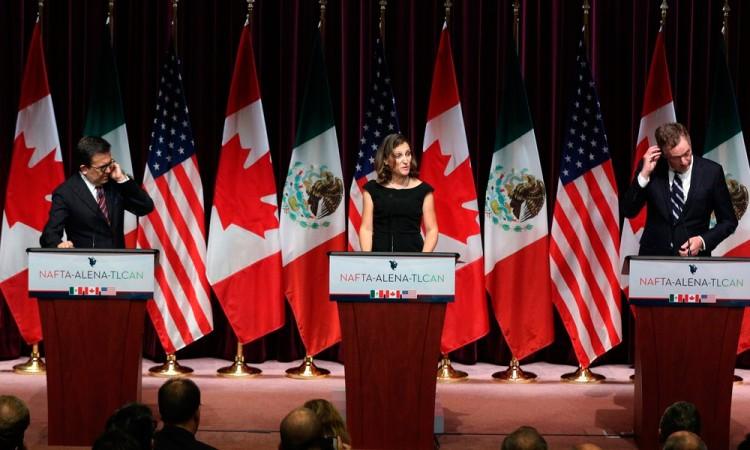 Canadá prevé salida de EU del TLCAN