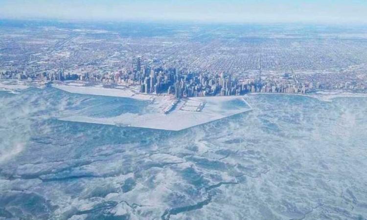 Chicago amanece más frío que la Antártida