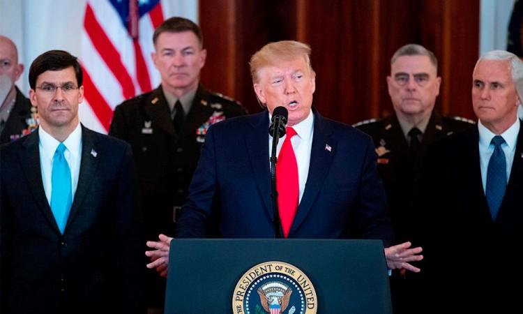 Trump anuncia sanciones económicas a Irán