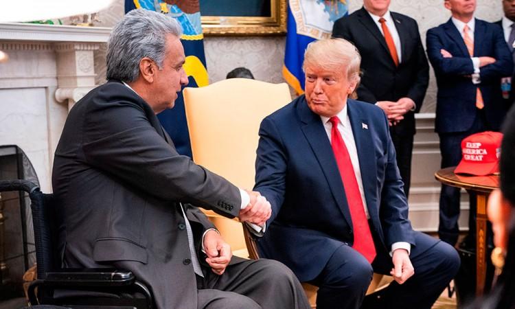 Trump busca acuerdo comercial con Ecuador