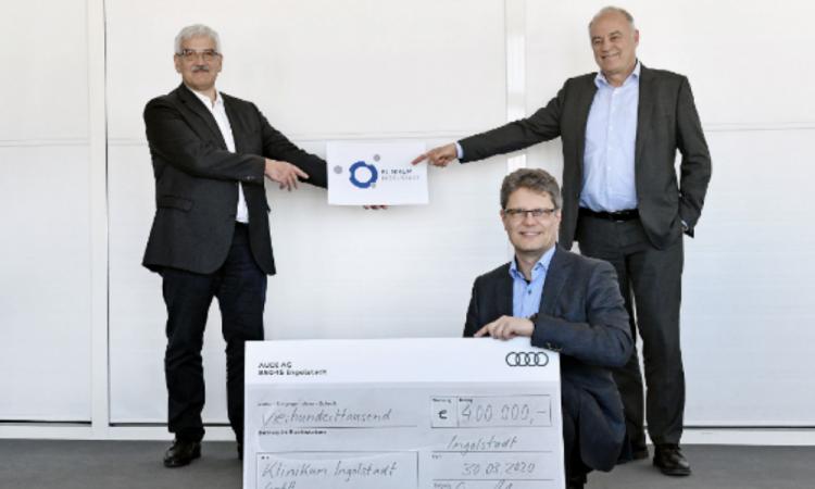 Audi dona 600 mil euros a Alemania para hospitales