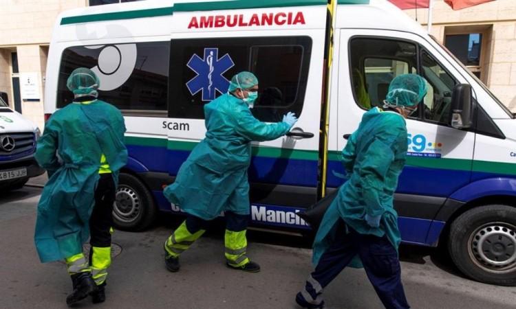 España alcanza 12 mil 418 muertes y 130 mil casos
