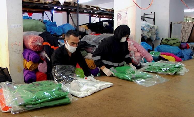 Gaza exporta más de 600 mil mascarillas para ayudar a combatir el coronavirus
