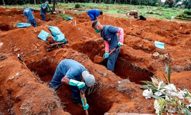Brasil rebasa 1.7 millones de casos de Covid-19; cerca de 68 mil muertes