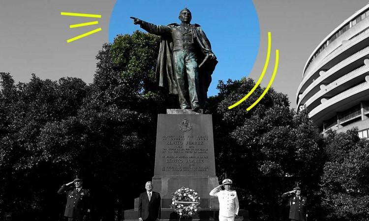 ¿Cómo llegó la estatua de Benito Juárez a Washington?