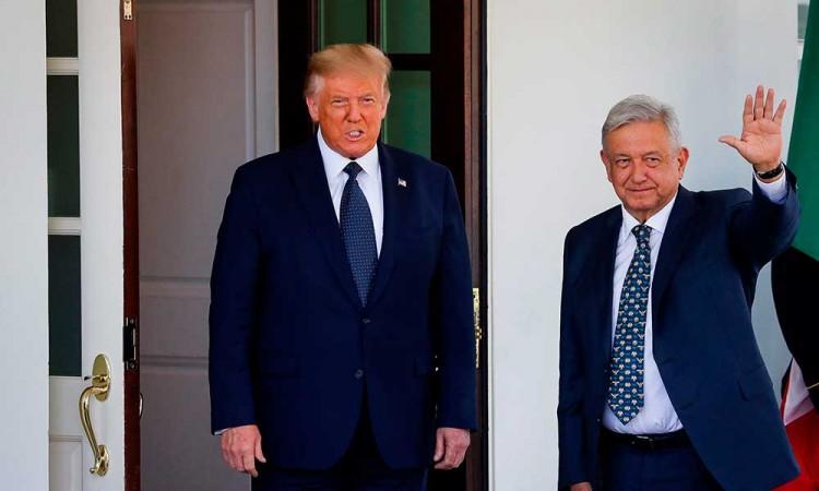 El presidente López Obrador llega a la Casa Blanca para su reunión con Trump