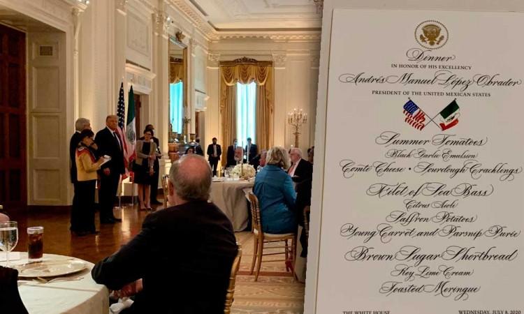Esta fue la cena de López Obrador en la Casa Blanca