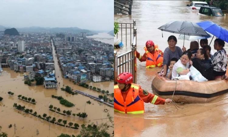 Inundaciones en China dejan 141 personas desaparecidas y 28 mil viviendas dañadas