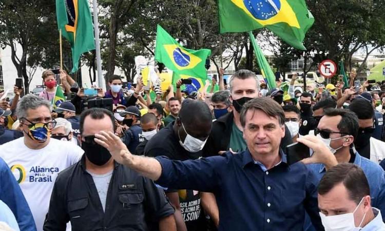 Bolsonaro  es uno de los líderes mundiales más escépticos frente a la gravedad de la pandemia.