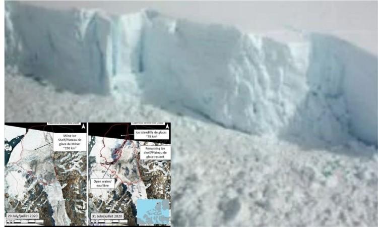 Colapsó la última plataforma intacta de hielo en Canadá