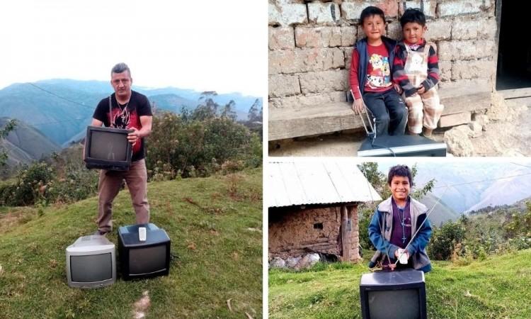 ¡Increíble! Maestro reparte televisores para que sus alumnos aprendan desde casa