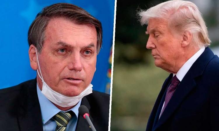 """Bolsonaro dice que Trump saldrá más fuerte para """"el bien del mundo"""""""