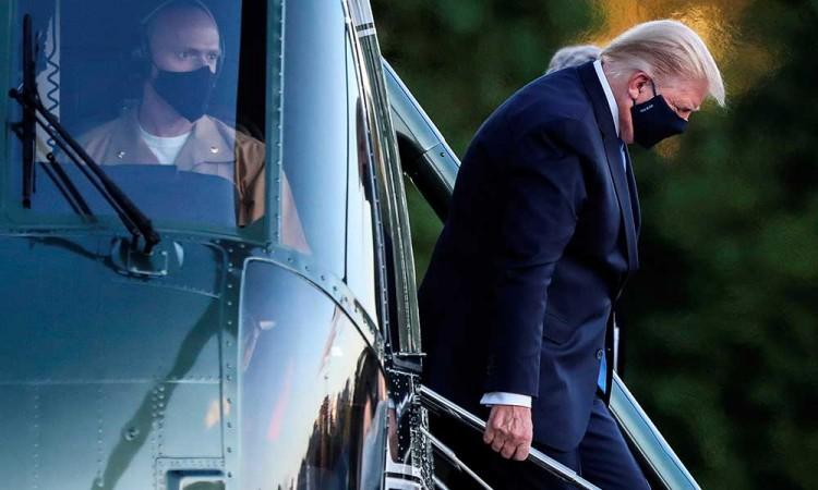 """Trump admite sentirse """"muy fatigado"""" luego de dar positivo a Covid-19"""
