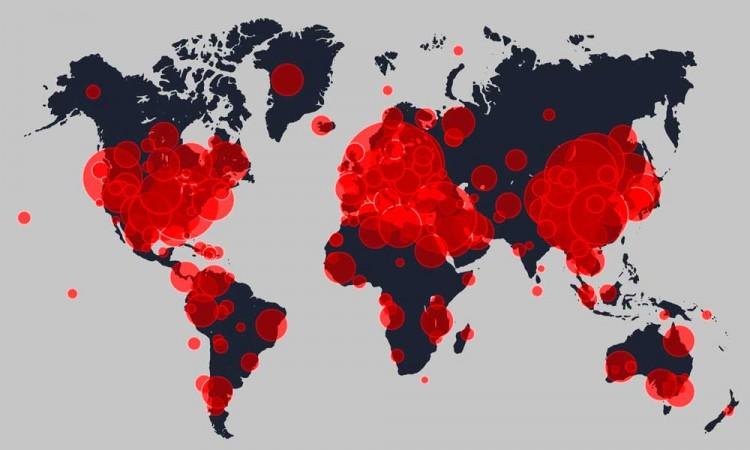América rebasa los 18 millones de casos y total global llega a 37,6 millones