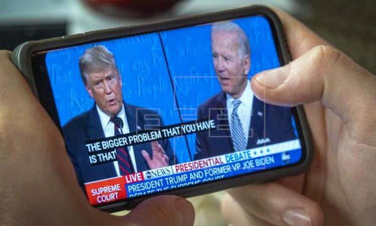 Va último enfrentamiento entre Donald Trump y Joe Biden