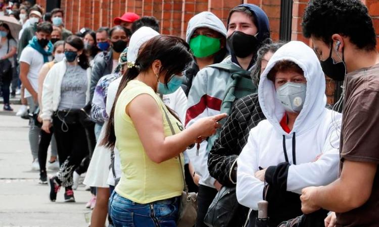 Colombia supera el millón de casos por covid-19 y alcanza 30 mil  muertes