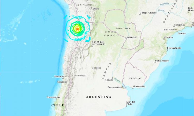 Sismo de magnitud 6,1 azota centro de Chile