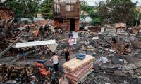 Incendio en barrio popular, marca la Nochebuena en Paraguay