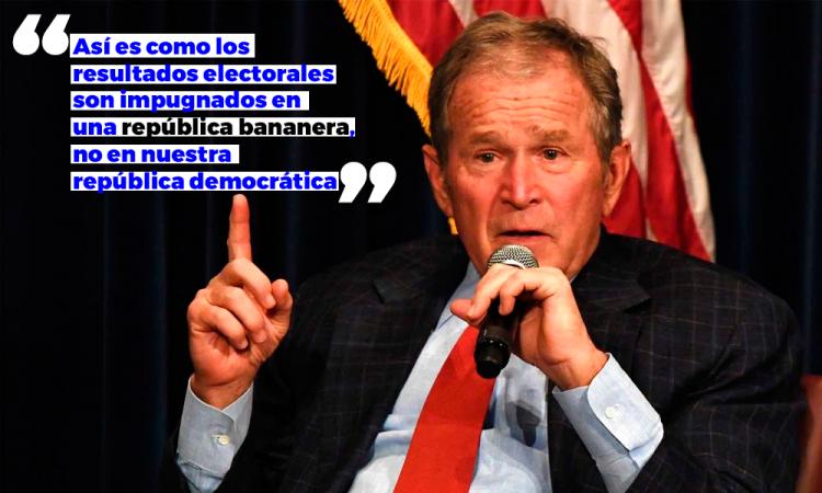 George W Bush califica asalto al Capitolio como propio de una 'república bananera'