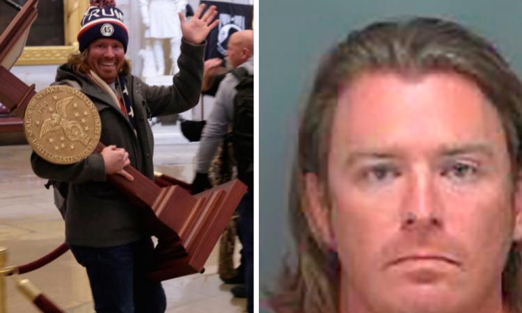 Detienen en Florida al sonriente trumpista que cargaba el atrio de Pelosi