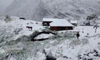 ¿Sorpréndenos 2021? Atípica nevada tiñe de blanco un parque de Colombia