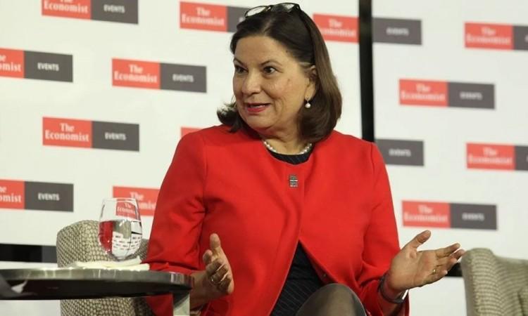 Martha Bárcena la embajadora de México en Estados Unidos presente en la toma de posesión de Joe Biden
