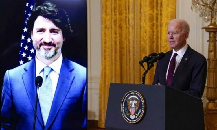 Sin la presencia de López Obrador, Biden y Trudeau dialogan sobre crisis climática