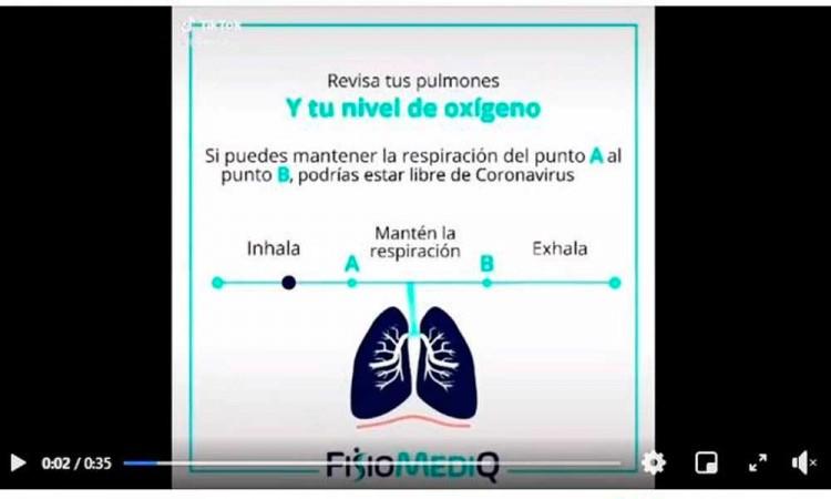 """""""Revisa tus pulmones y tu nivel de oxígeno"""" Circula de nuevo el test que detecta la covid al contener el aliento"""