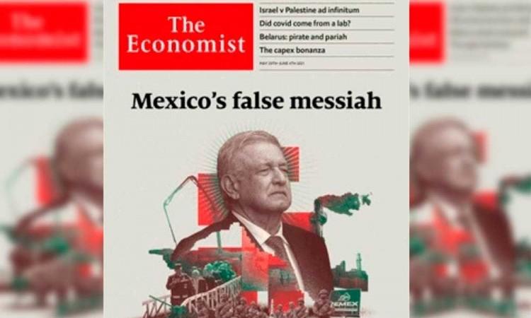 """""""El falso mesías de México"""" Así muestra la revista The Economist en su portada a López Obrador"""