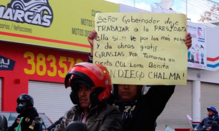 Realizan rodada en favor de edil de Tehuacán