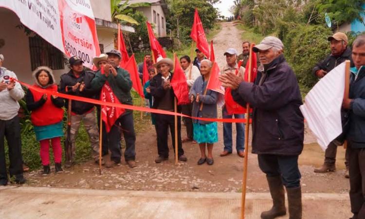 Comienzan obra en Hueytamalco