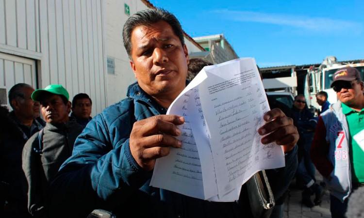 Paran labores trabajadores del Oosapat en Tehuacán
