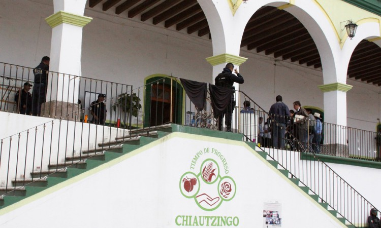 Plantan a edil de Chiautzingo