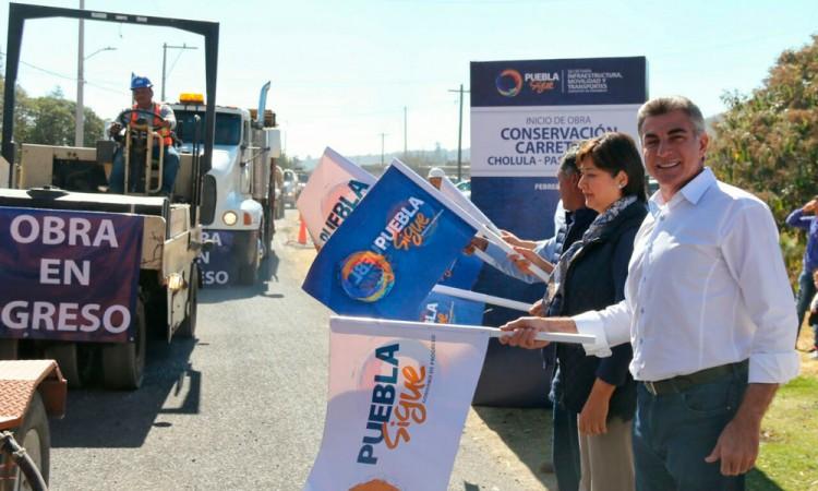Da Gali banderazo a obras en camino Paso de Cortés-Cholula