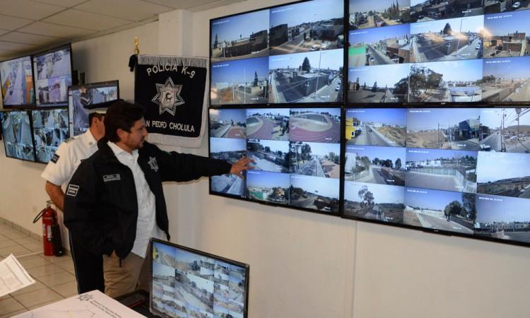 Amplían sistema de videovigilancia en San Pedro Cholula