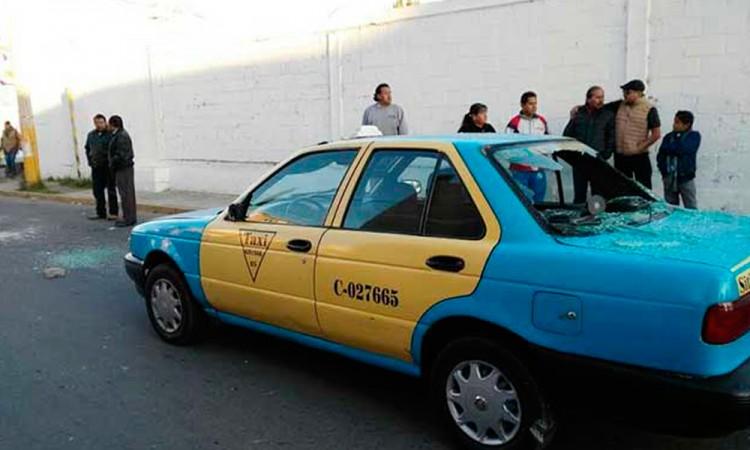 Denuncian taxistas ola de inseguridad