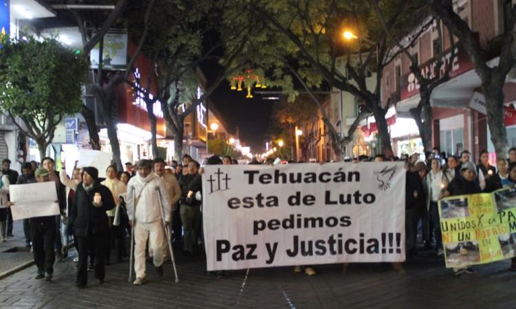 Marchan contra la inseguridad en Tehuacán