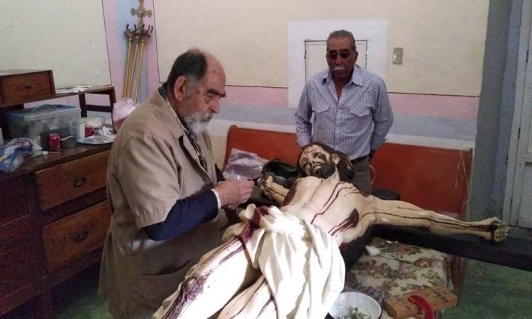 Restauran Cristo de 197 años