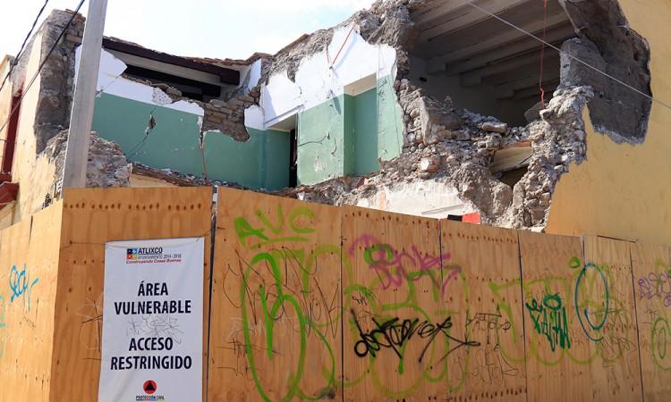 Se estanca reconstrucción en Atlixco