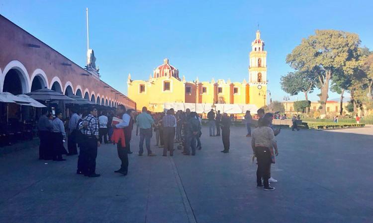Reporta en San Pedro Cholula saldo blanco tras sismo