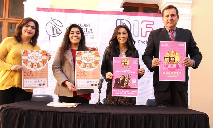 Presentan en Cholula actividades por el Día de Reyes Magos