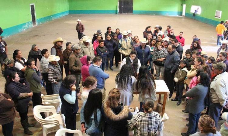 Elige a su juez de paz en Ciénega Larga Chignahuapan