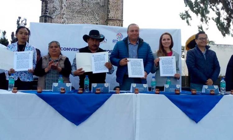Firman convenio de turismo Tochimilco y Atlixco
