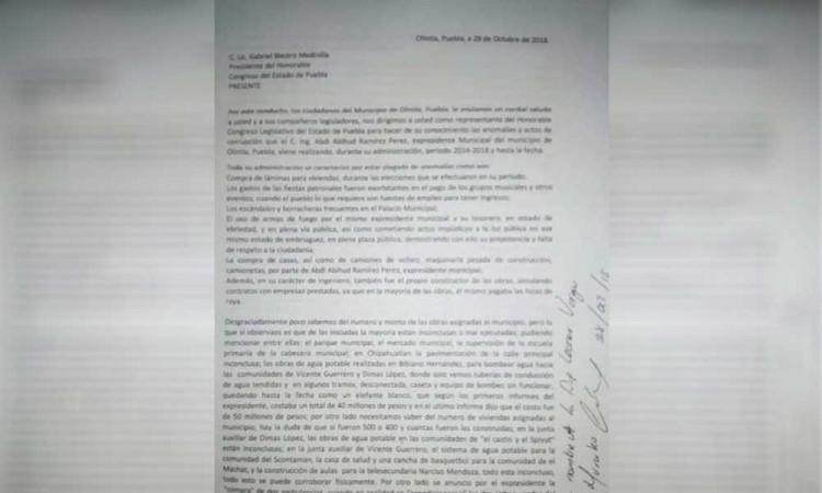 Piden habitantes de Olintla una auditoría al exedil Abdi Ramírez