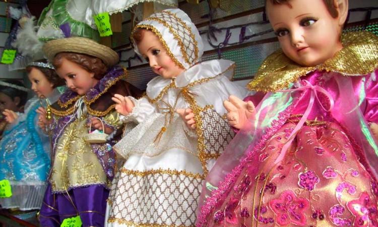 Listos, vestidos de Niños Dios en Izúcar