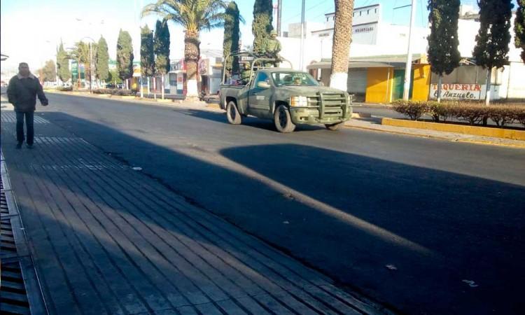 Refuerzan militares operativos anticrimen en Tecamachalco