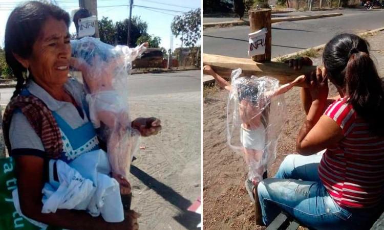 Cambian Cristos  por voto en  San Jerónimo Coyula