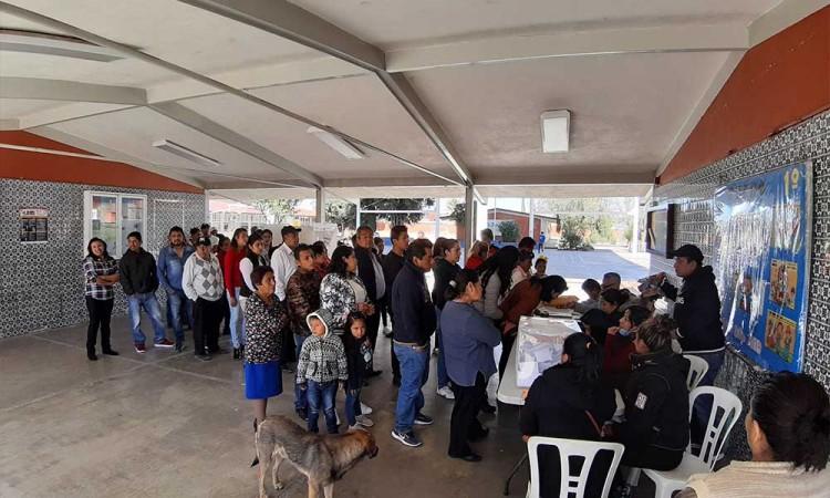 Con incidencias, se renuevan alcaldías auxiliares en Texmelucan y Huejotzingo