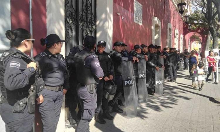 Dejan a policías sin seguro de vida en Tehuacán